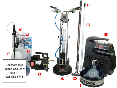Rotovac 360i 200 psi equipment package 230v carpet cleaning business startup opportunities ppazfo